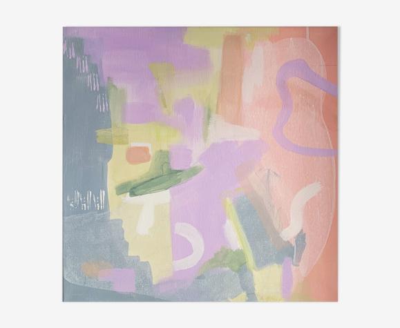 Fade out Lines - Tableau abstrait, Acrylique, 50 x 50 cm, pièce originale unique