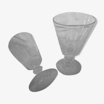 Duos de verres à absinthe