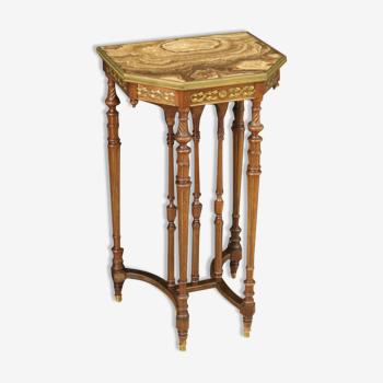 Table d'appoint élégante avec plateau onyx