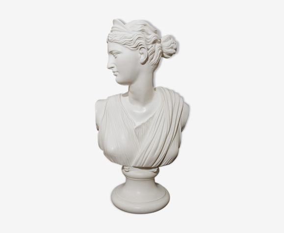 Buste sculpture femme aphrodite platre blanc
