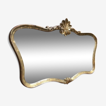 Miroir à moulures dorées 100x65cm