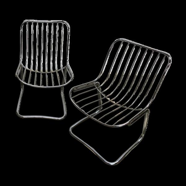 Chaises chrome