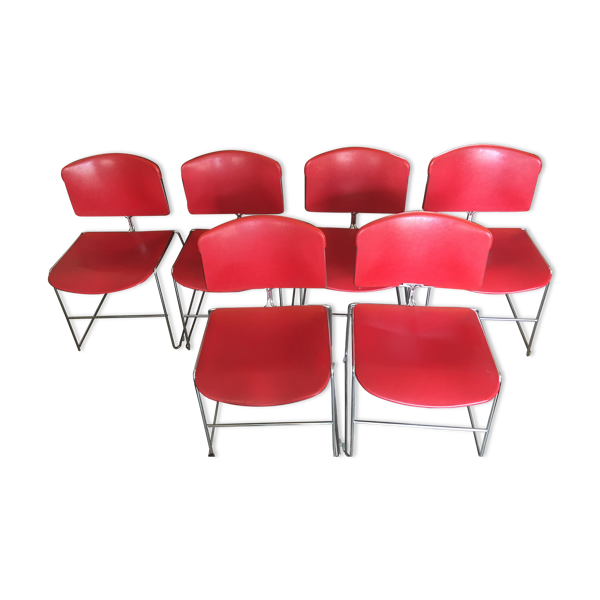 Selency Lot de 6 chaises Max Stacker