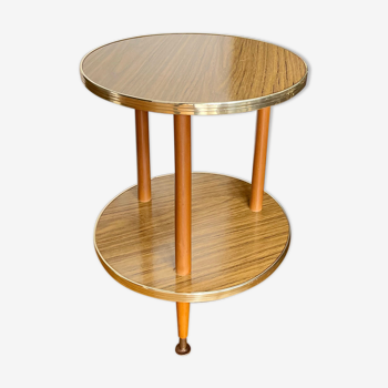 Table d'appoint ronde vintage de formica
