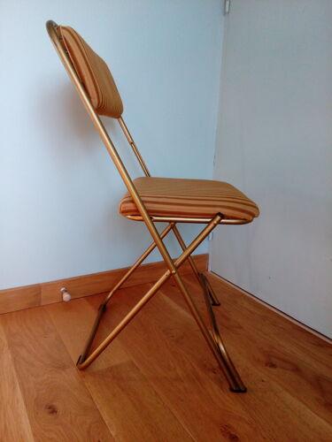 Chaise pliante Lafuma années 60 modèle Chantazur d'avant 1968