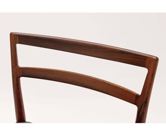 Set of six chairs in rosewood by Harry Ostergaard
