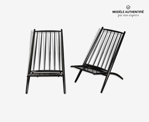 2 chaises Safari Congo Chair - Ilmari Tapiovaara - Hagafors Stolfabrik AB