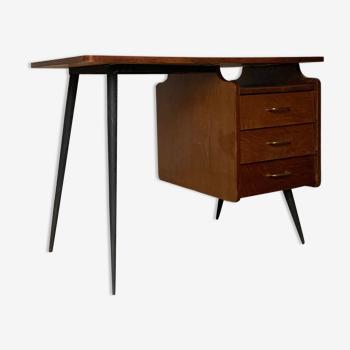 Bureau moderniste pied compas vintage