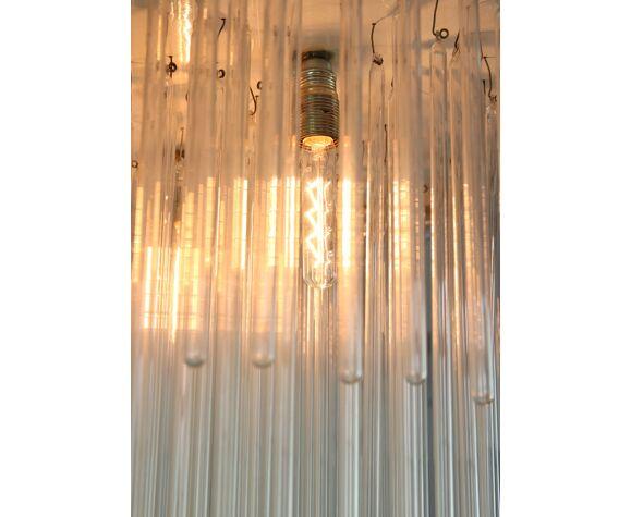Lustre minimaliste en verre soufflé à la main, années 1970