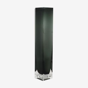 Vase gris Murano des années 1960, fabriqué en Italie