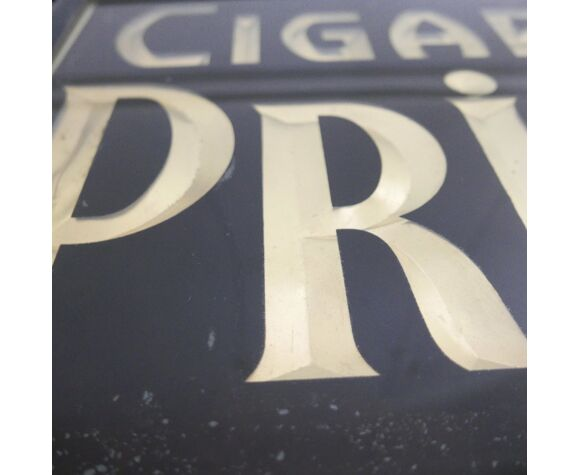 Enseigne publicitaire double face, peinte, cigares
