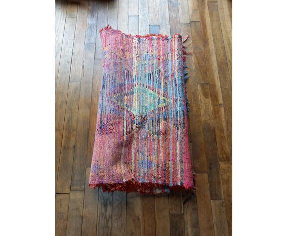 Tapis berbere boucherouite ancien 90x189cm