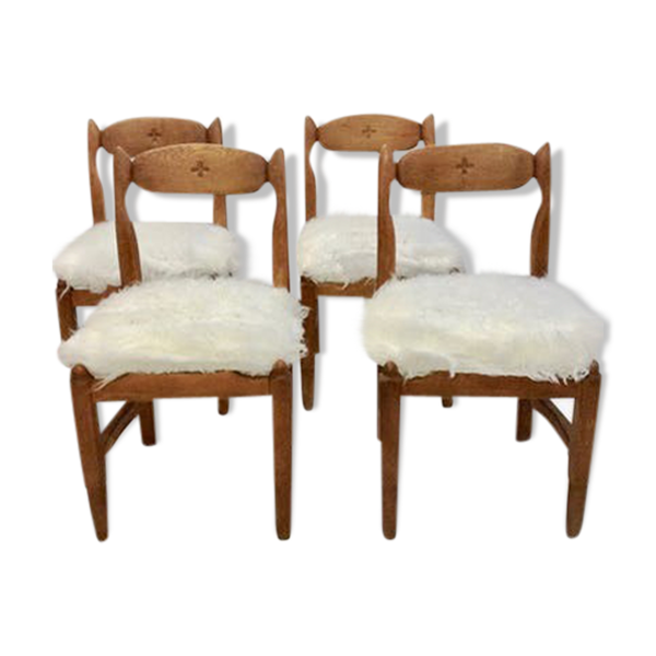 4 chaises par Guillerme et Chambron