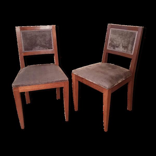Paire de chaises de style art déco
