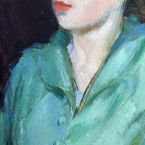 Tableau portrait de femme 1950