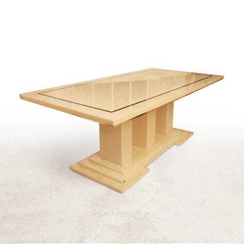 Table à manger marbre signée Eric Maville