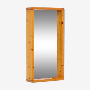 Maison Regain Miroir rectangulaire avec cadre en bois 70s