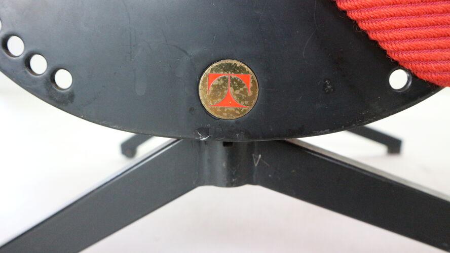 Chaise longue rouge «P40» Osvaldo Borsani  pour Tecno 1950 Italie