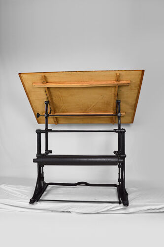 Adjustable industrial architect table in cast iron, circa 1900