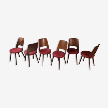 Lot de 6 chaises bistrot Baumann Mondor