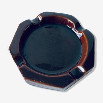Cendrier hexagonal ancien en céramique Arma