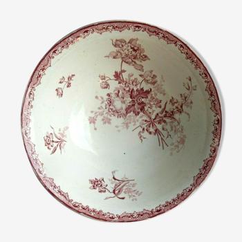 Saladier Sarreguemines modèle Fontanges en rose