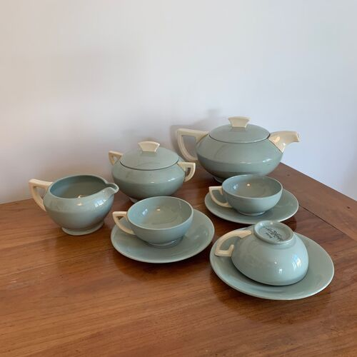 Tea set D.V. Sarreguemines Art Deco