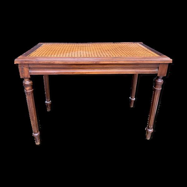 Table d'appoint cannée de style Louis XVI