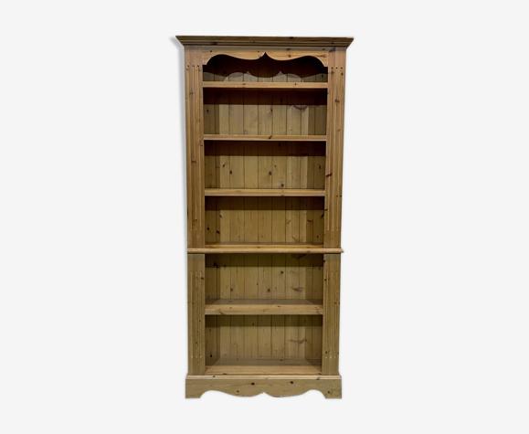 Bibliothèque anglaise en sapin fabrication moderne