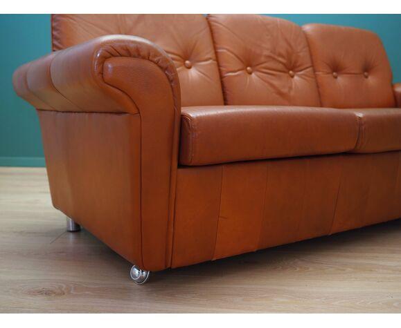 Canapé en cuir, années 60, design danois, Danemark