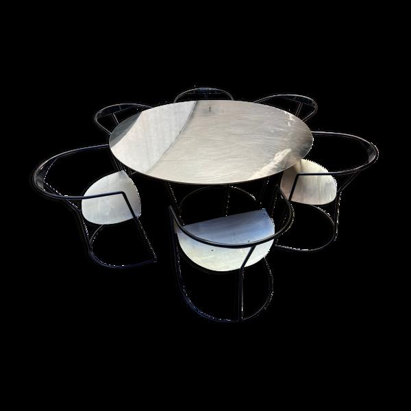 Selency Lot composé d'une table et de 6 chaises - Pol Quadens 2000
