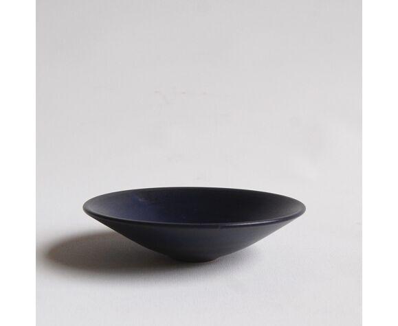 Pplat en céramique bleue Antonio Lampecco