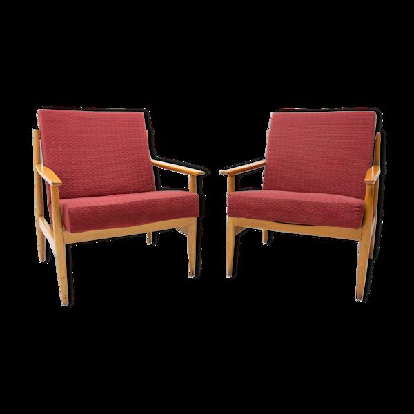 Paire de fauteuils scandinaves du milieu du siècle par TON, années 1970