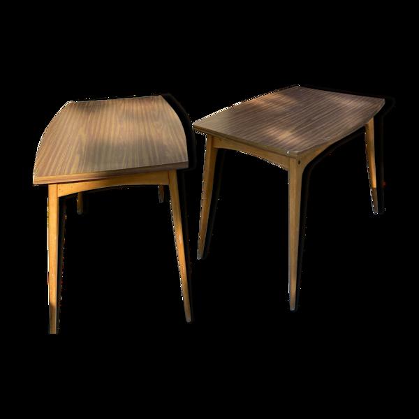 Paire de tables Stella design 1960