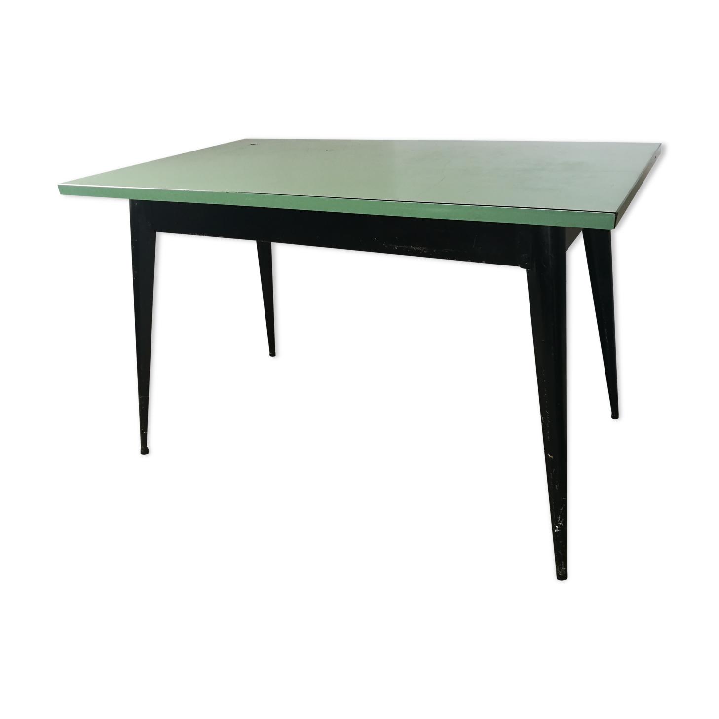 Table Tolix, vintage métal et formica
