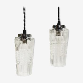 Pair of vintage hanging lamps