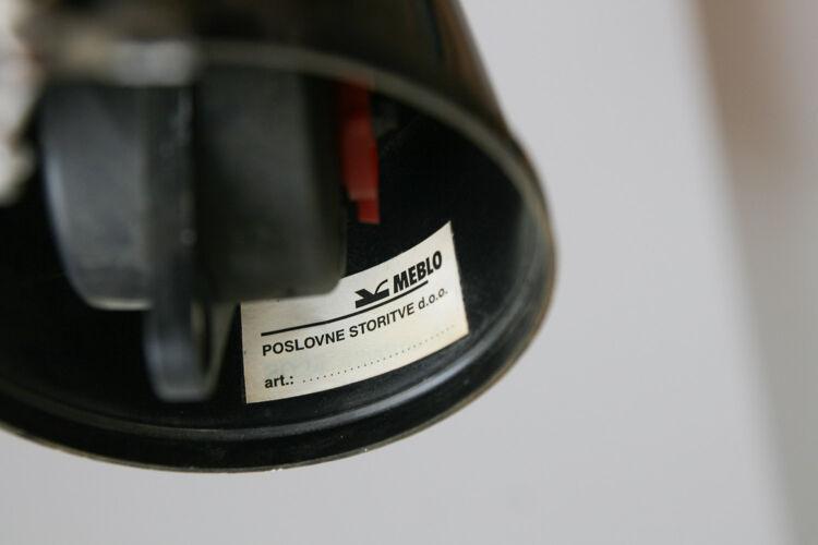 Suspension trompette vintage de Meblo années 1970