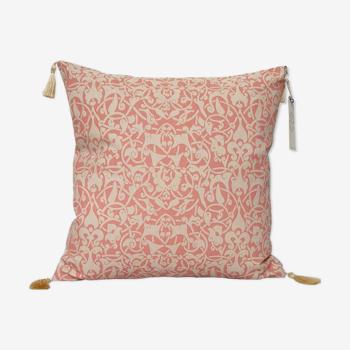 Etnik cushion cover beige / bright pink - 40 x 40