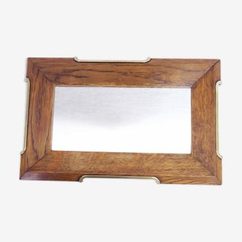 Miroir de barbier ou plateau art deco 24x37cm