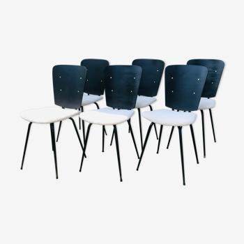Set de 6 chaises vintage 1960