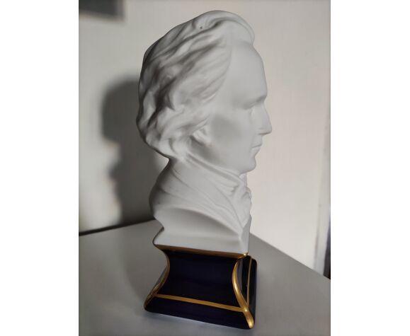 Buste Chopin, de Camille Tharaud, porcelaines de Limoges