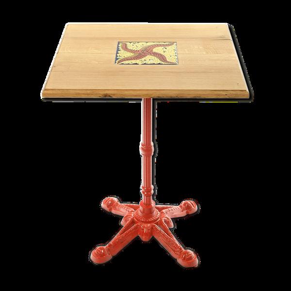 Table avec carreau en faïence signé S. Dali