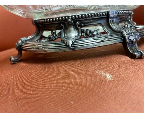 Coupe en métal argenté