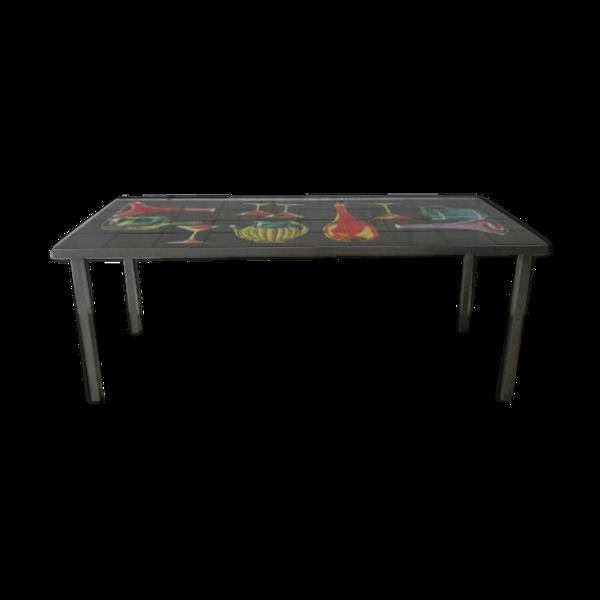 Selency Table basse céramique vintage