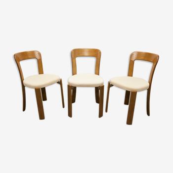 Lot de 3 chaises Bruno Rey pour Dietiker Basel 1970