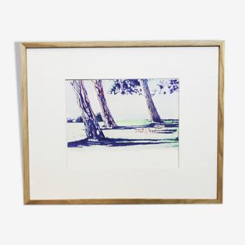 Forêt magique, par Lilou, tableau unique