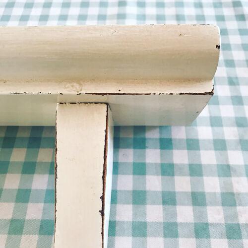 Double patère bois peint des années 50