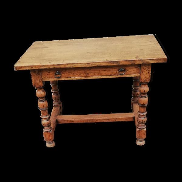 Table de ferme ancienne, 1 tiroir