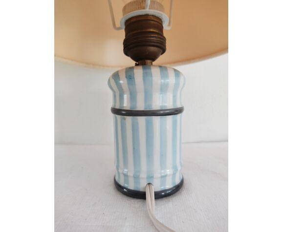 Lampe vintage en porcelaine de paris