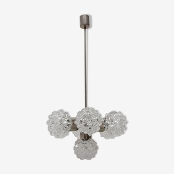 Cut glass pendant chandelier for Kamenický Šenov, 1970´s